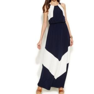 Vince Camuto Maxi Black White Dress Size 10